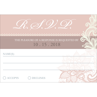Lace C - 1 Sided RSVP