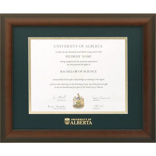 U of A Briarwood Mahogany Diploma Frame - ALBERTA1215BM - University ...