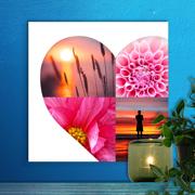 12 x 12 Heart Collage Canvas (4 photos)