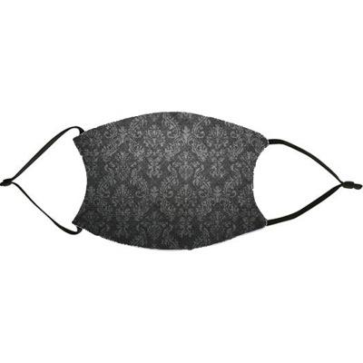 Black Damask Face Mask