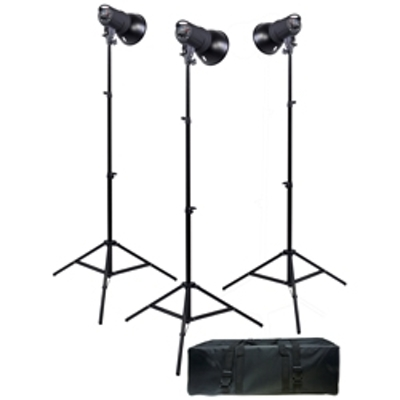Promaster-SM300 Digital Display 3-Light Studio Kit #6819-Studio Lighting Kits