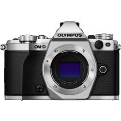 Olympus-OM-D E-M5 Mark II System Camera - Body Only - Silver-Digital Cameras