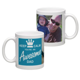 White Coffee Mug 11oz (wrap) Dad-B