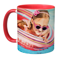 11oz Red Handle & Inner Photo Mug - 2 images