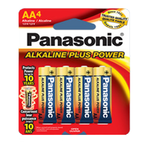 Panasonic-Plus AA (4 pack) AM-3PA/4B (Duplicate)-Batteries