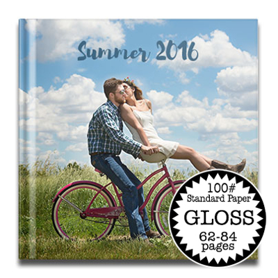 12 x 12 Gloss Hard Cover photo book /Standard 100# (62-84 Pages)