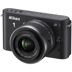 Nikon-1 J2 Compact Interchangeable Lens Camera with 10-30mm VR Lens-Digital Cameras