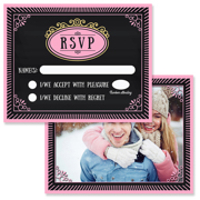 Chalkboard A - 2 Sided RSVP  4x5