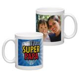 White Coffee Mug 11oz (wrap) Dad-F
