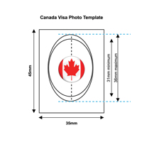 Canadian Visa Photo Templates