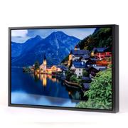 24x36 Horizontal Black Frame Metal Panel