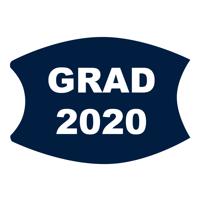Navy/White Custom Grad 2020 Face Mask (Lg/Adult)