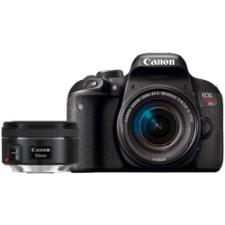 Canon-EOS Rebel T7i Digital SLR Camera with EF-S 18-55mm f4-5.6 IS STM and 50mm f1.8 STM Lenses-Digital Cameras