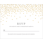 Confetti - 1 Sided RSVP  4x5