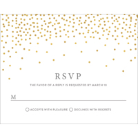 Confetti - 1 Sided RSVP