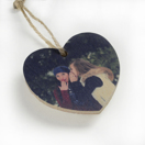 Heart Wood Ornament Double Sided