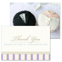 Vintage B - 2 Sided Thank You