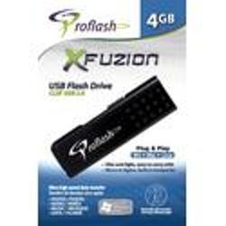 Proflash-USB Flash Drive 2.0 Fuzion 4GB (#21136)-Memory cards, tape and discs