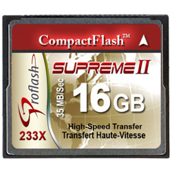 Proflash-CompactFlash Supreme II 233x 16GB PF-16GB/CF233-Memory cards, tape and discs