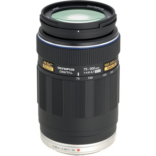 Olympus-M. ED 75-300mm F4.8 - 6.7 Lens - Black-Lenses - SLR & Compact System