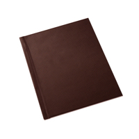 8.5 x 11 (Unibind) Brown Leatherette