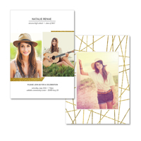 5x7  2 Sided Graduation Card (17-036)