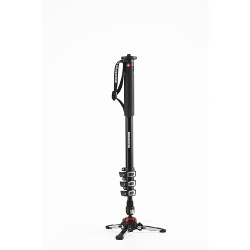 Manfrotto-XPRO Aluminium 4 Section Fluid Video Monopod - FLUIDTECH Base-Tripods & Monopods