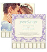 Vintage B - 2 Sided Invitation