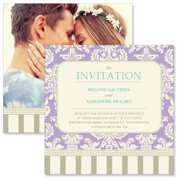 Vintage B - 2 Sided Invitation  6x6