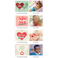 4x8 1 Sided - Mini Valentine Cards - B2 (XR)
