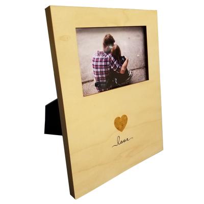 4x6 Photo on 8x10 Maple Custom Frame (LOVE)
