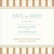 Vintage D - 1 Sided Save the Date 6x6