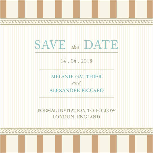 Vintage D - 1 Sided Save the Date