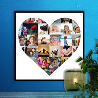 12 x 12 Heart Collage (30 photos)