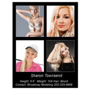 Headshot 8½x11 Single Side 4 Photos Black
