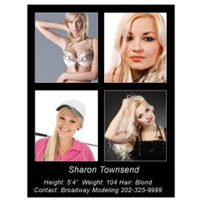 Headshot 8½x11 Single Side 4 Photos Black