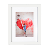 Snap 8x10 Matted Print & Frame Bundle with 5x7 Print - White
