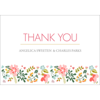 Floral - 1 Sided Thank You