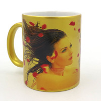 Gold mug 11oz Free layout
