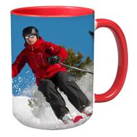 15oz Red Handle & Inner Photo Mug