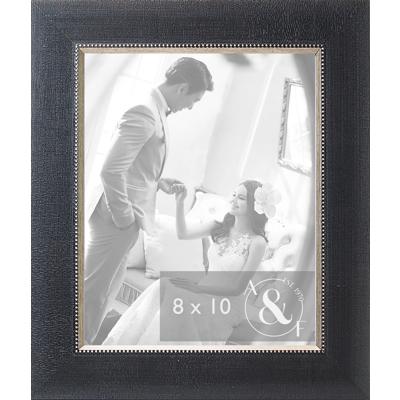 8x10 Black Tweed w/ Silver