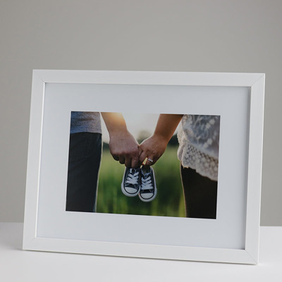 330x250mm Print in a 20mm White Frame with a 150x225mm image (50mm white space on all sides)