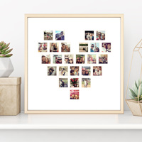 20x20 Heart Collage on Photo Paper