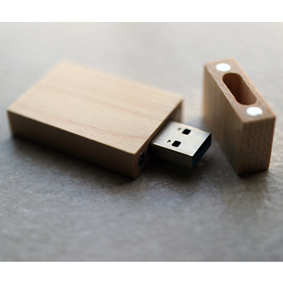 Wooden USB3.0 Only, in 4GB - Vanilla Rectangle