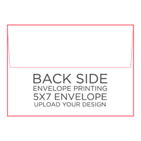 50pk - 5x7 Envelope w/ Printing on Back Side