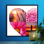 12 x 12 Heart Collage Print - 4 photos