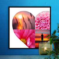 12 x 12 Heart Collage Print - 4 photos