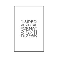 """8.5"""" x 11"""" 24# Text B&W Copies"""