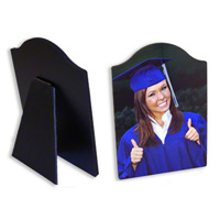 Arched Photo Panel w. stand unlimited text & photos 8x10
