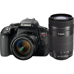 Canon-EOS Rebel T7i Digital SLR Camera with EF-S 18-55mm IS STM and EF-S 55-250mm IS STM Lenses-Digital Cameras